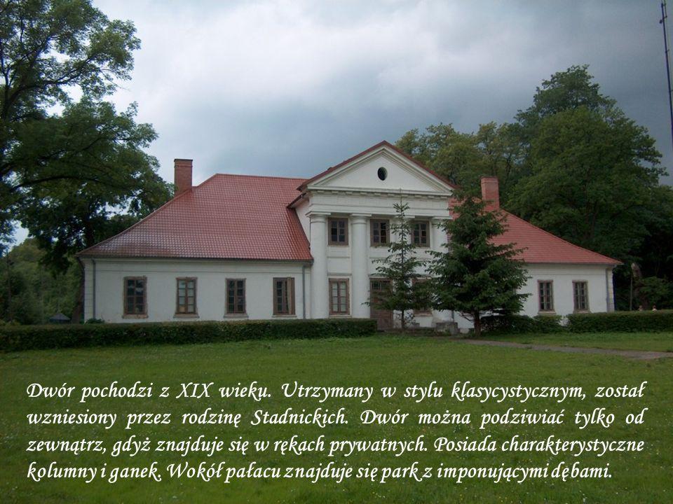 Dwór pochodzi z XIX wieku.