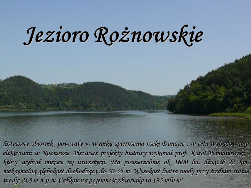 Sztuczny zbiornik powstały w wyniku spiętrzenia rzeki Dunajec, w celu wybudowania elektrowni w Rożnowie.