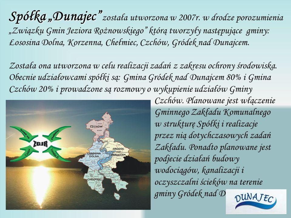 Spółka Dunajec została utworzona w 2007r.