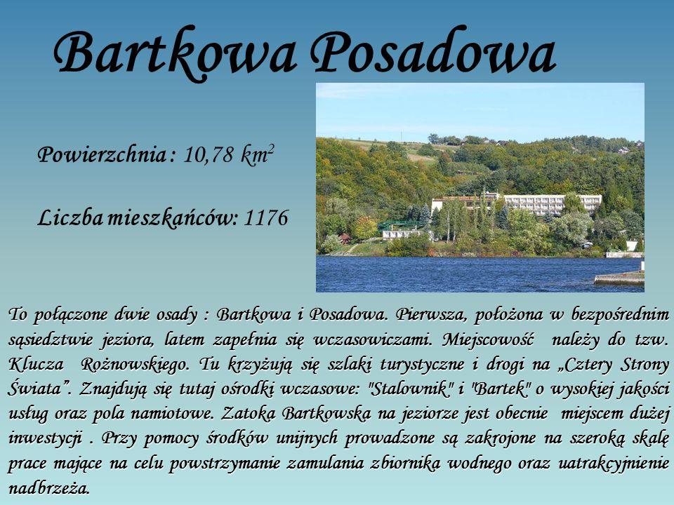 Bartkowa Posadowa Powierzchnia : 10,78 km 2 Liczba mieszkańców: 1176 To połączone dwie osady : Bartkowa i Posadowa.