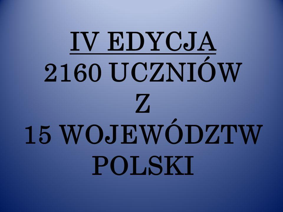 IV EDYCJA 2160 UCZNIÓW Z 15 WOJEWÓDZTW POLSKI