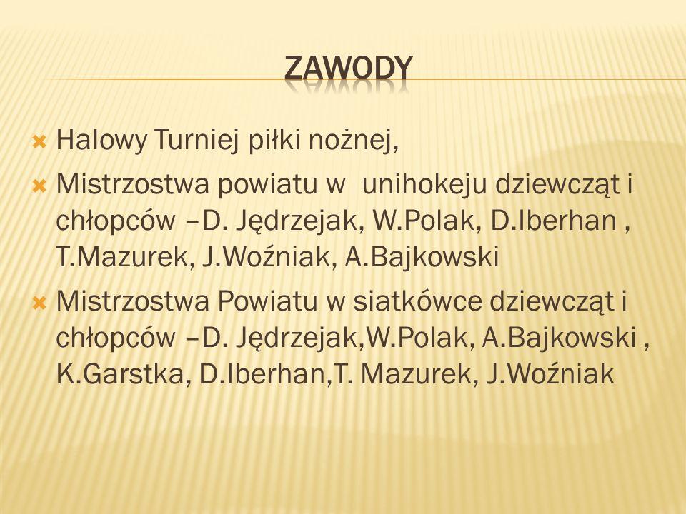 Mistrzostwa Powiatu w piłce nożnej –A.Bajkowski, D.