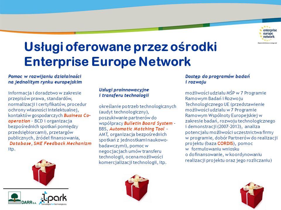Pomoc w rozwijaniu działalności na jednolitym rynku europejskim informacja i doradztwo w zakresie przepisów prawa, standardów, normalizacji i certyfik