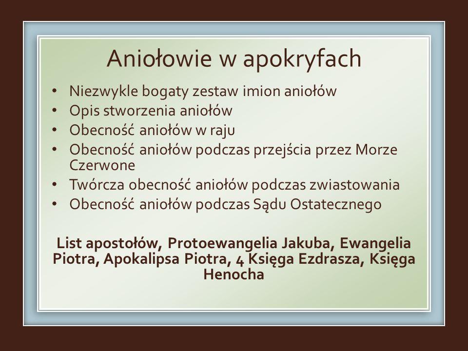 ZAKOŃCZENIE Angelologia – nauka o aniołach