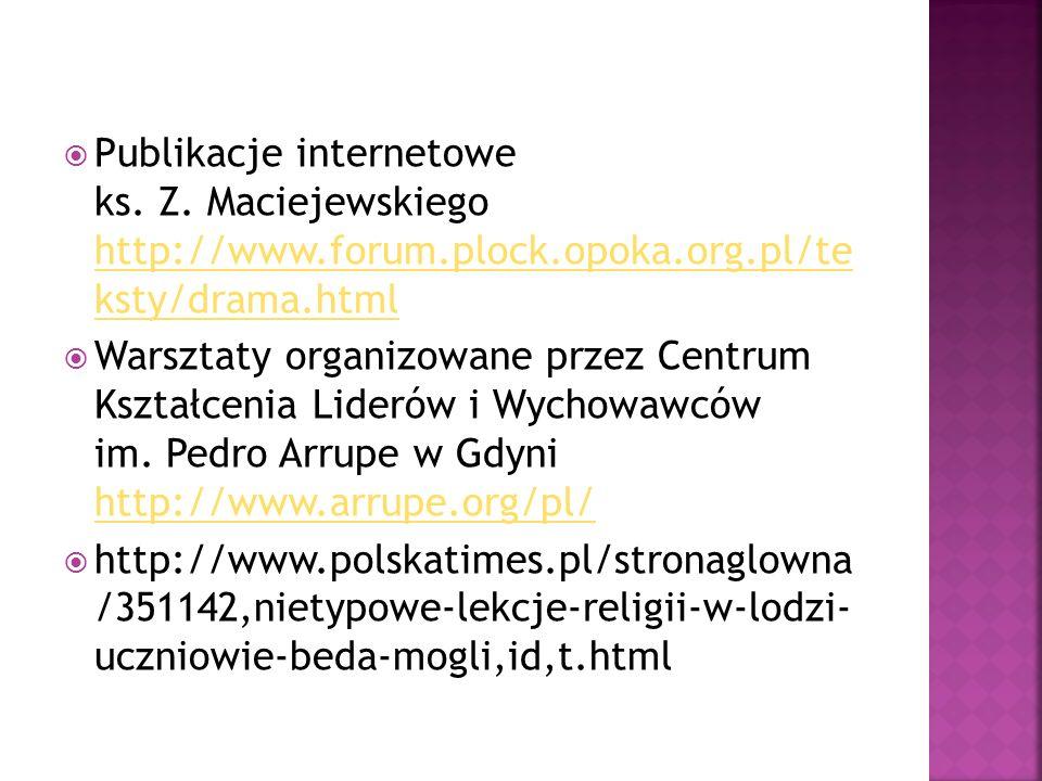 Publikacje internetowe ks. Z.