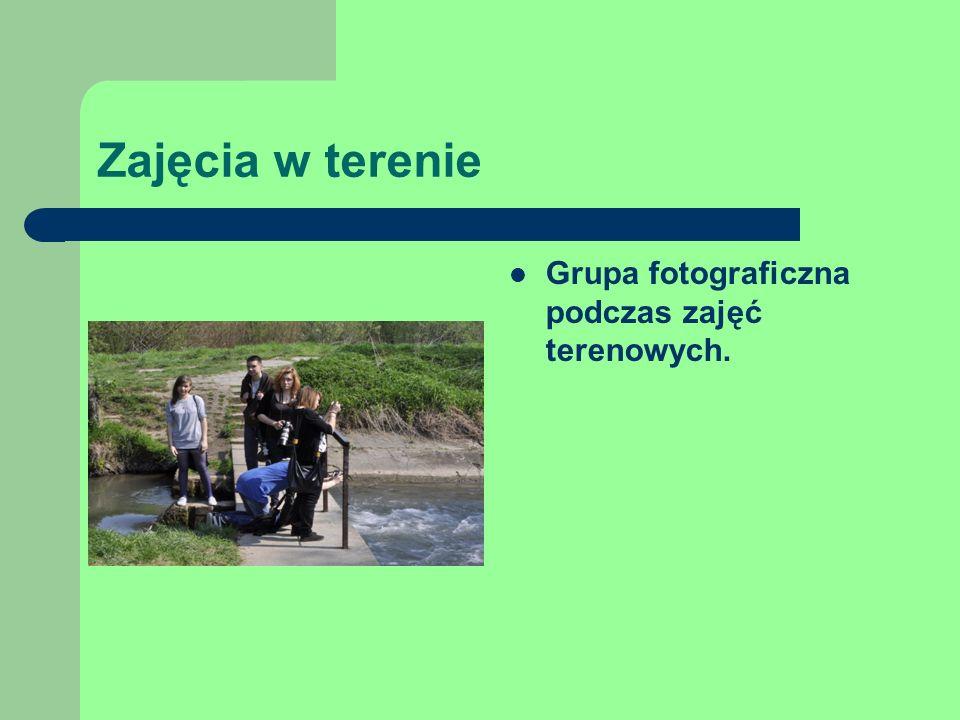 Zajęcia w terenie Grupa fotograficzna podczas zajęć terenowych.