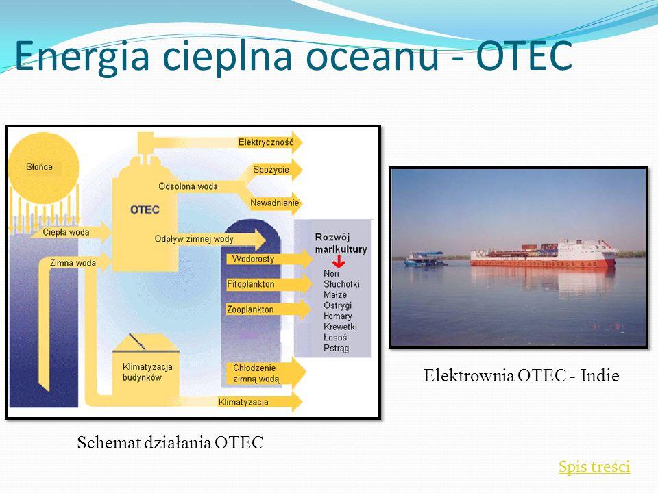 Energia cieplna oceanu - OTEC Spis treści Elektrownia OTEC - Indie Schemat działania OTEC