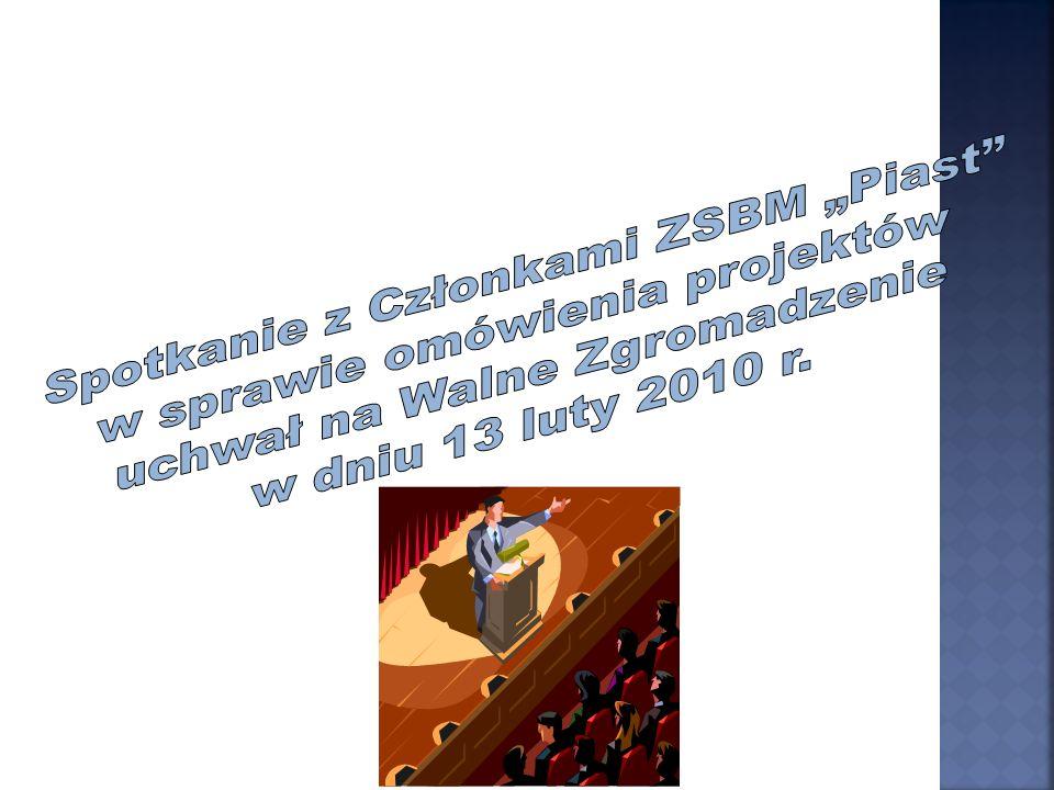 Zgodnie z & 101 ust 3 Statutu uchwały podejmowane są bezwzględną większością głosów z wyjątkiem Uchwały nr 2 /zmiany w statucie /dla podjęcia których wymagana jest kwalifikowana większość 2/3 głosów