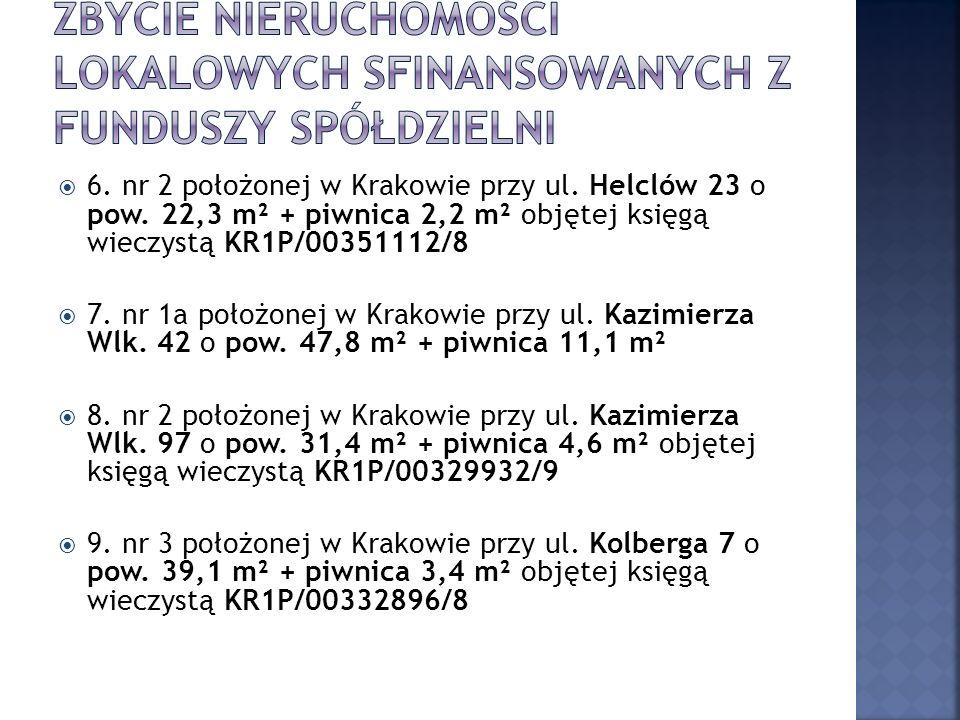 6. nr 2 położonej w Krakowie przy ul. Helclów 23 o pow.