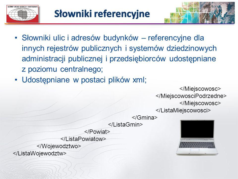 Słowniki ulic i adresów budynków – referencyjne dla innych rejestrów publicznych i systemów dziedzinowych administracji publicznej i przedsiębiorców u