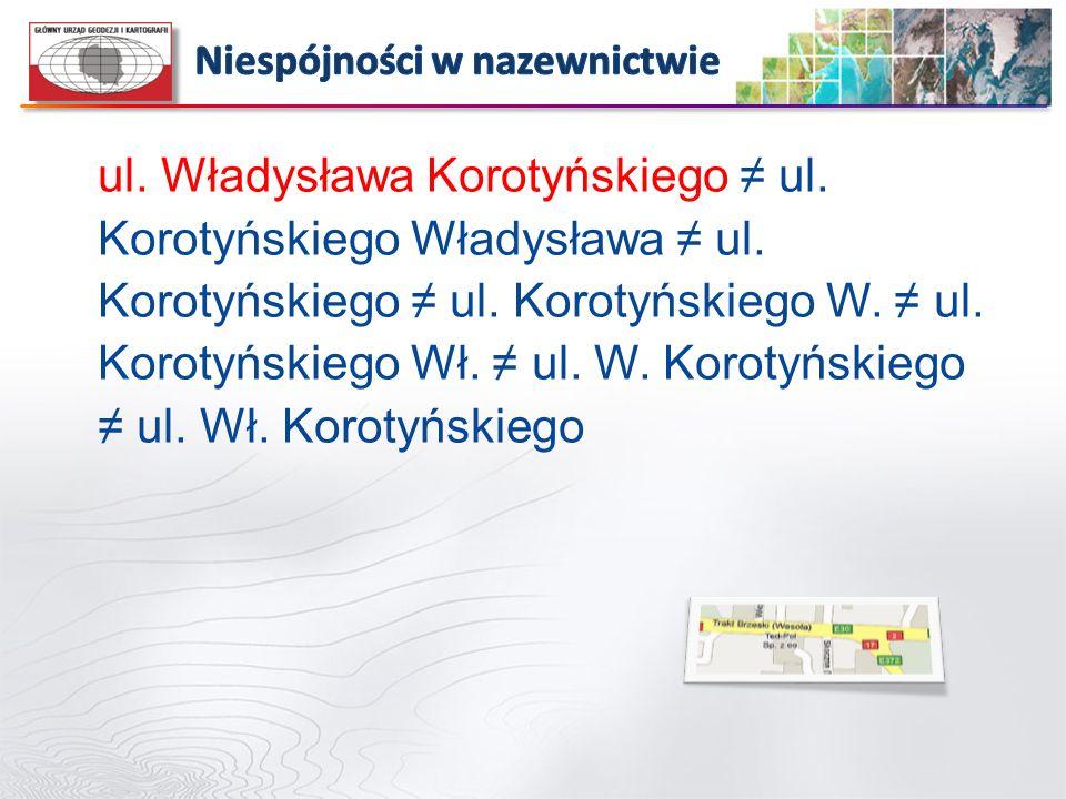 ul. Władysława Korotyńskiego ul. Korotyńskiego Władysława ul. Korotyńskiego ul. Korotyńskiego W. ul. Korotyńskiego Wł. ul. W. Korotyńskiego ul. Wł. Ko
