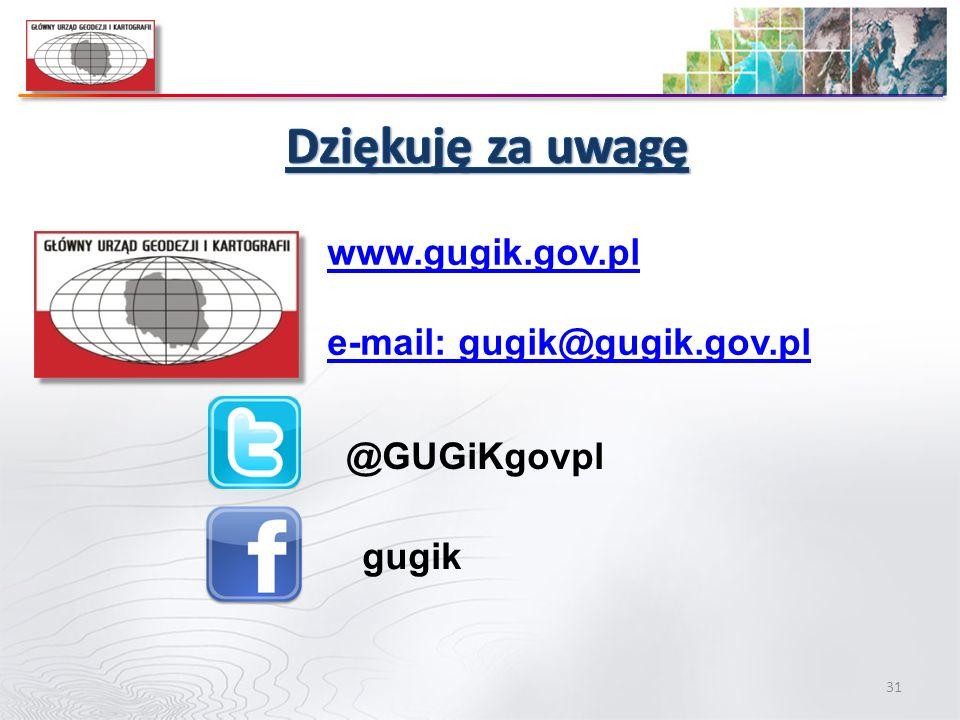 31 www.gugik.gov.pl e-mail: gugik@gugik.gov.pl @GUGiKgovpl gugik