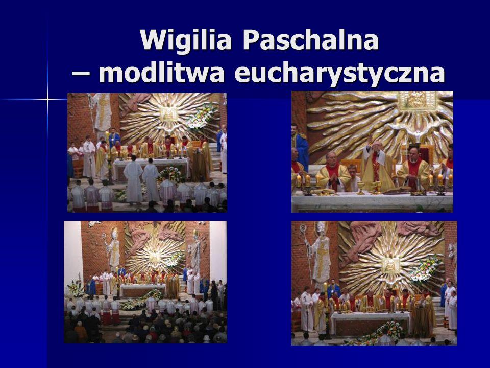 Wigilia Paschalna – modlitwa eucharystyczna