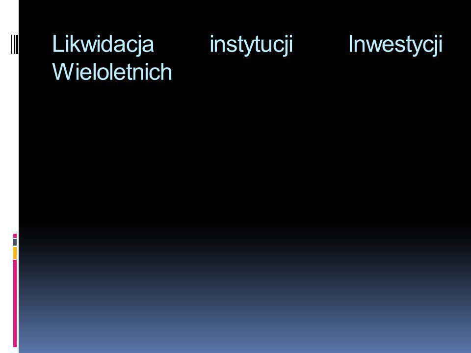 Likwidacja instytucji Inwestycji Wieloletnich