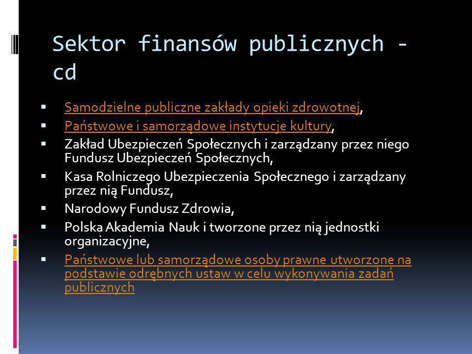 Sektor finansów publicznych - cd Samodzielne publiczne zakłady opieki zdrowotnej, Samodzielne publiczne zakłady opieki zdrowotnej Państwowe i samorząd