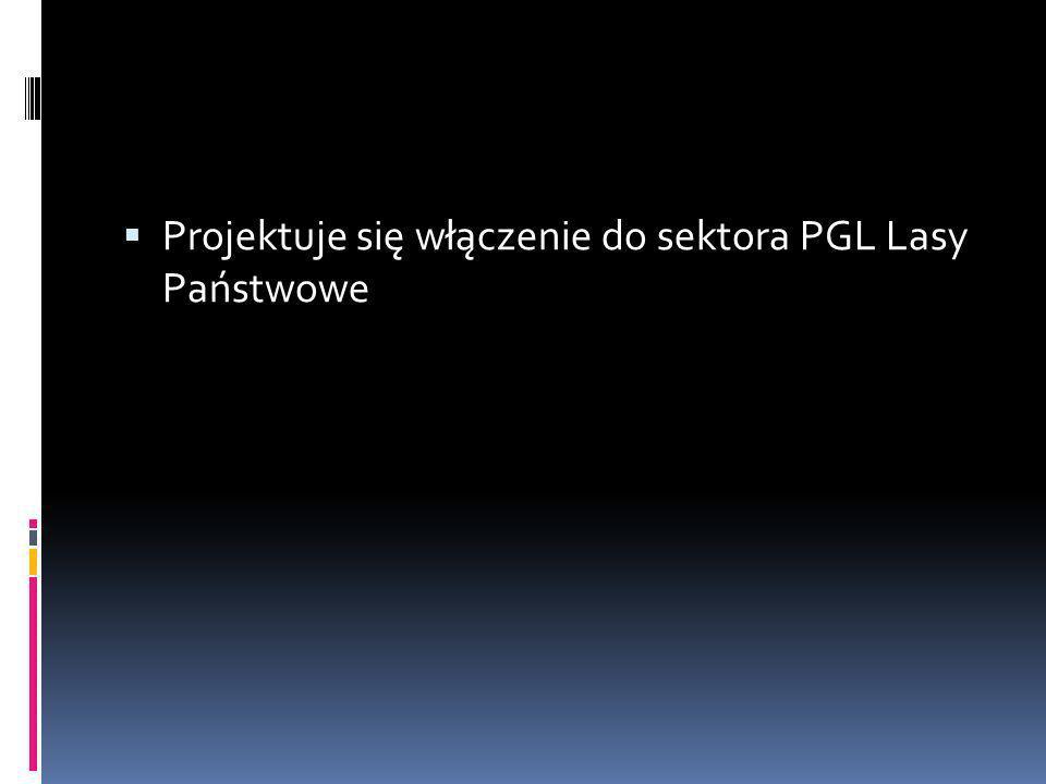 Projektuje się włączenie do sektora PGL Lasy Państwowe