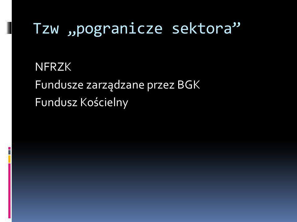 Tzw pogranicze sektora NFRZK Fundusze zarządzane przez BGK Fundusz Kościelny