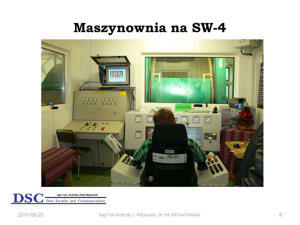 2011-09-20mgr inż. Andrzej J. Majewski, dr inż. Michał Meller8 Maszynownia na SW-4