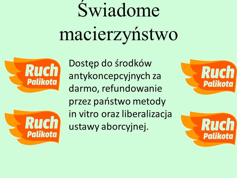 Dostęp do środków antykoncepcyjnych za darmo, refundowanie przez państwo metody in vitro oraz liberalizacja ustawy aborcyjnej. Świadome macierzyństwo