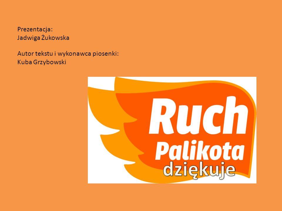 Autor tekstu i wykonawca piosenki: Kuba Grzybowski Prezentacja: Jadwiga Żukowska