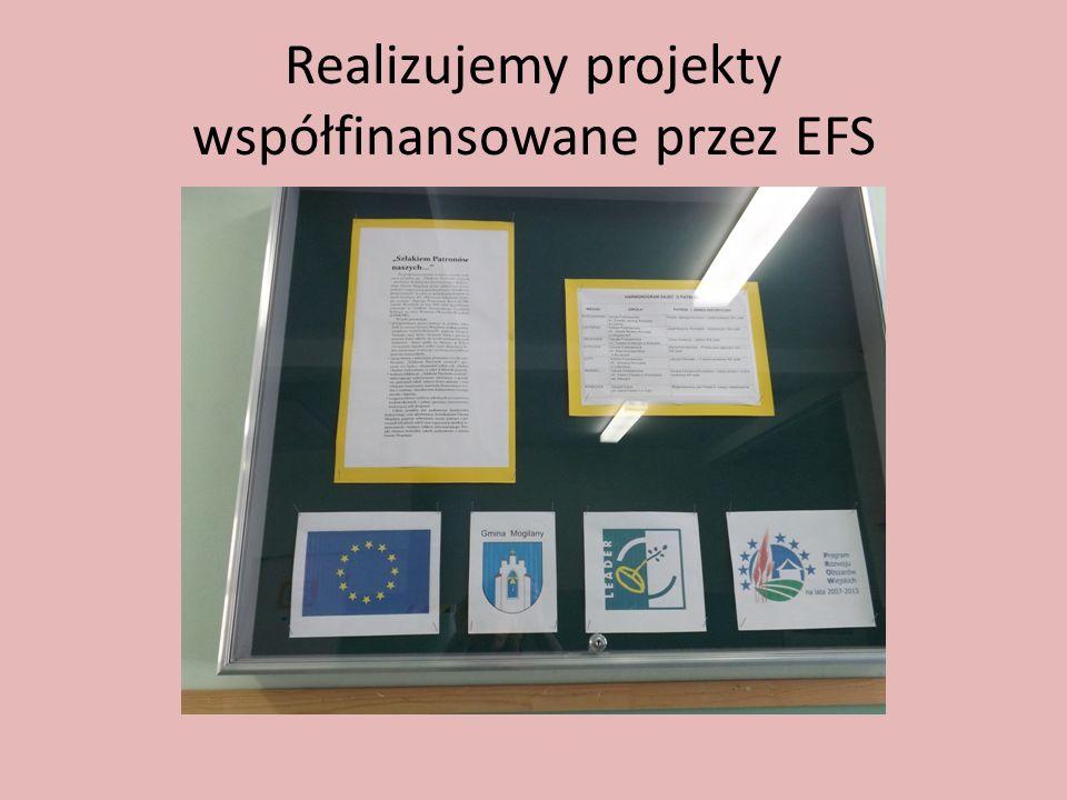 Realizujemy projekty współfinansowane przez EFS