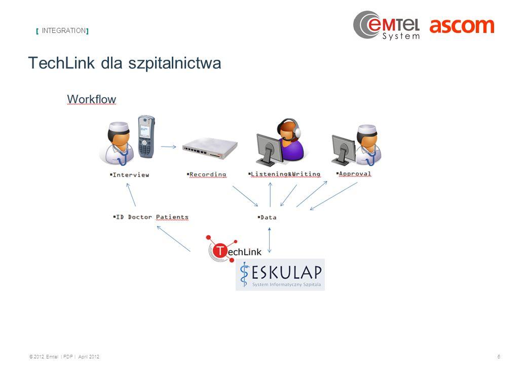 [ INTEGRATION ] 7 © 2012 Emtel   PDP   April 2012 Kontakt z nami: biuro@emtel-system.pl