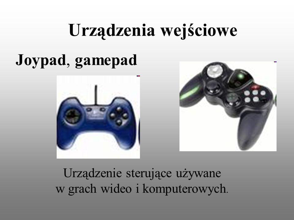 Urządzenia wejściowe Joypad, gamepad Urządzenie sterujące używane w grach wideo i komputerowych.