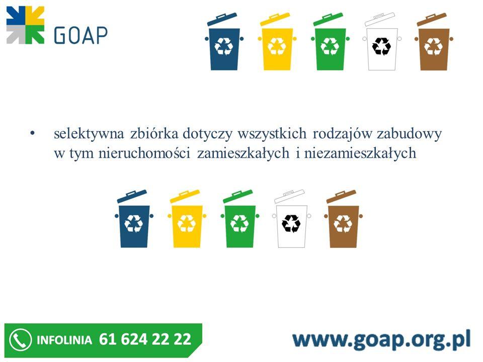 Dopuszcza się gromadzenie odpadów zbieranych w sposób selektywny w kontenerach i presokontenerach o poj.