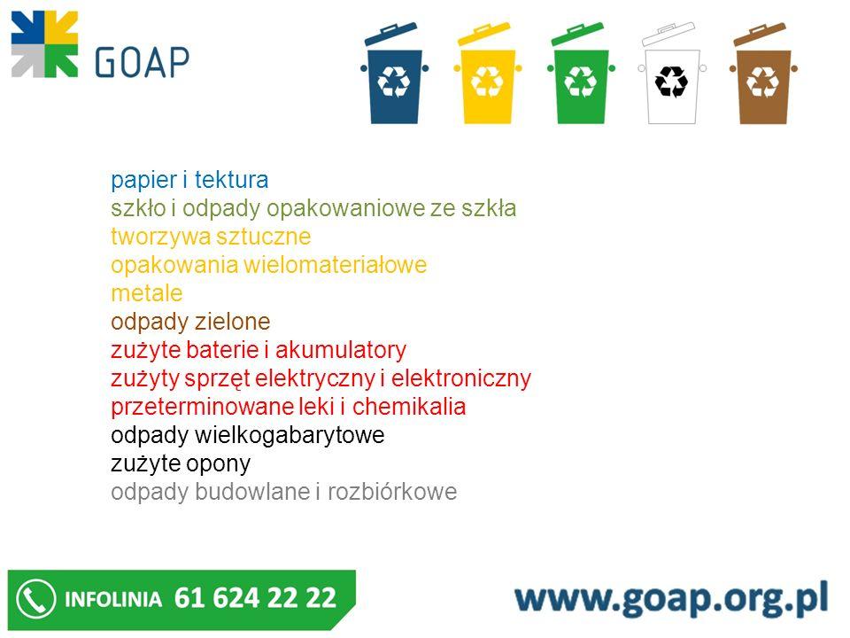 Odpady budowlane i rozbiórkowe : należy gromadzić w kontenerach lub specjalnych workach, big bagach , i przekazywać: do podmiotu uprawnionego lub posiadającego zezwolenie na transport odpadów, za dodatkową opłatą, po uprzednim zgłoszeniu przez właściciela nieruchomości do Biura Związku; do stacjonarnych punktów selektywnego zbierania odpadów komunalnych - tylko niezanieczyszczone frakcje gruzu.