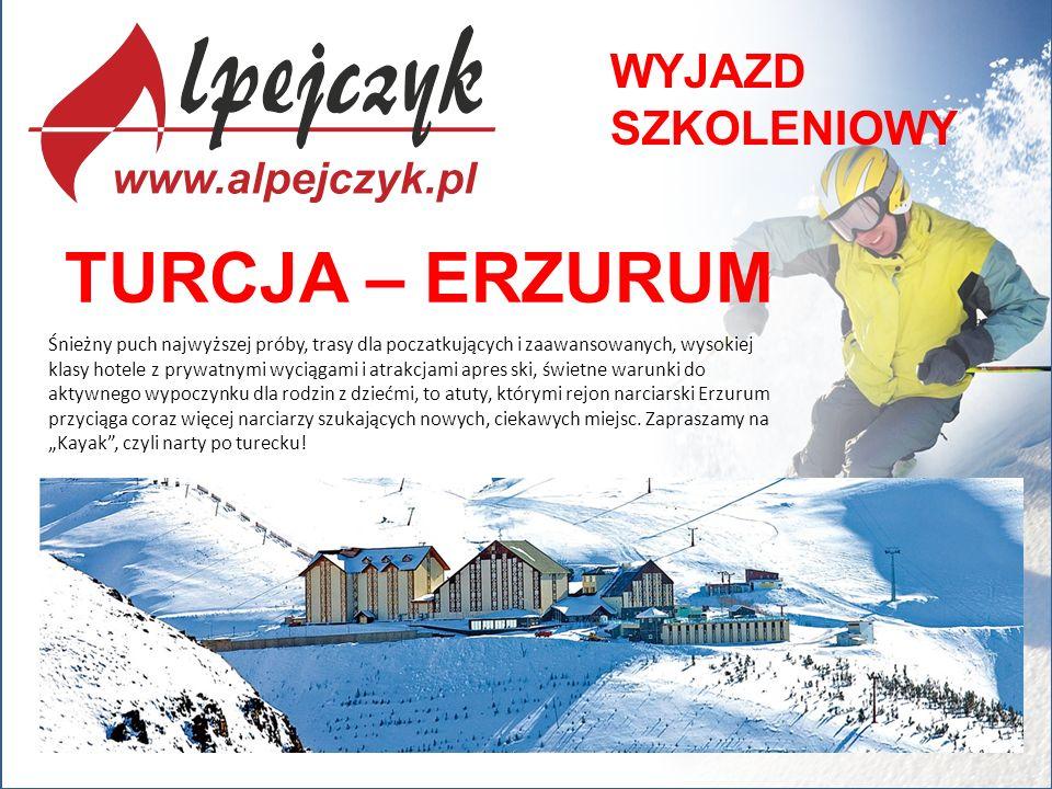 TURCJA – ERZURUM Śnieżny puch najwyższej próby, trasy dla poczatkujących i zaawansowanych, wysokiej klasy hotele z prywatnymi wyciągami i atrakcjami a