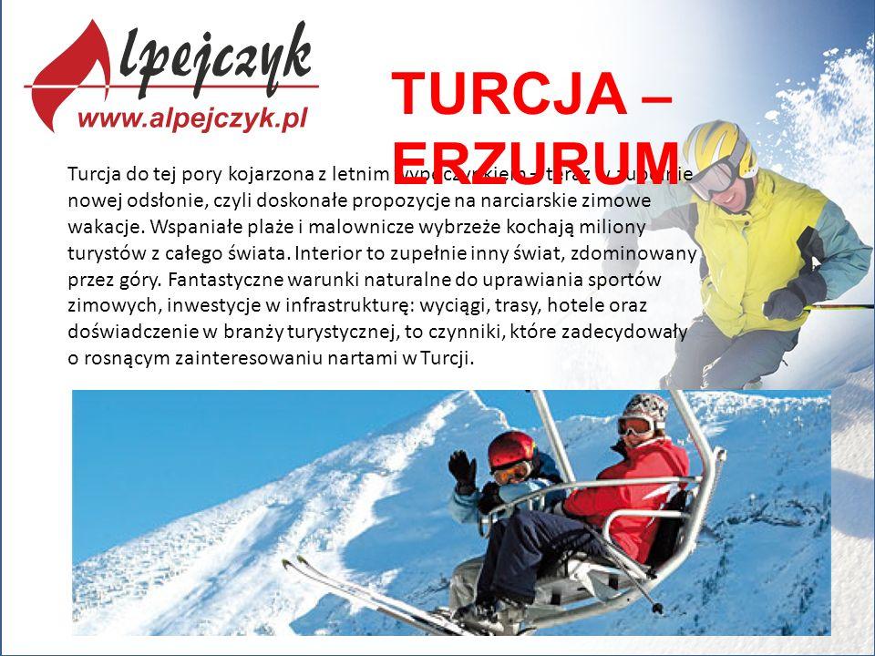 Turcja do tej pory kojarzona z letnim wypoczynkiem – teraz w zupełnie nowej odsłonie, czyli doskonałe propozycje na narciarskie zimowe wakacje. Wspani