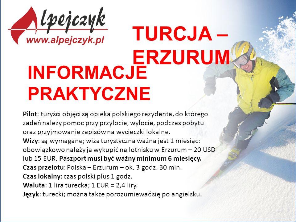 Pilot: turyści objęci są opieka polskiego rezydenta, do którego zadań należy pomoc przy przylocie, wylocie, podczas pobytu oraz przyjmowanie zapisów n