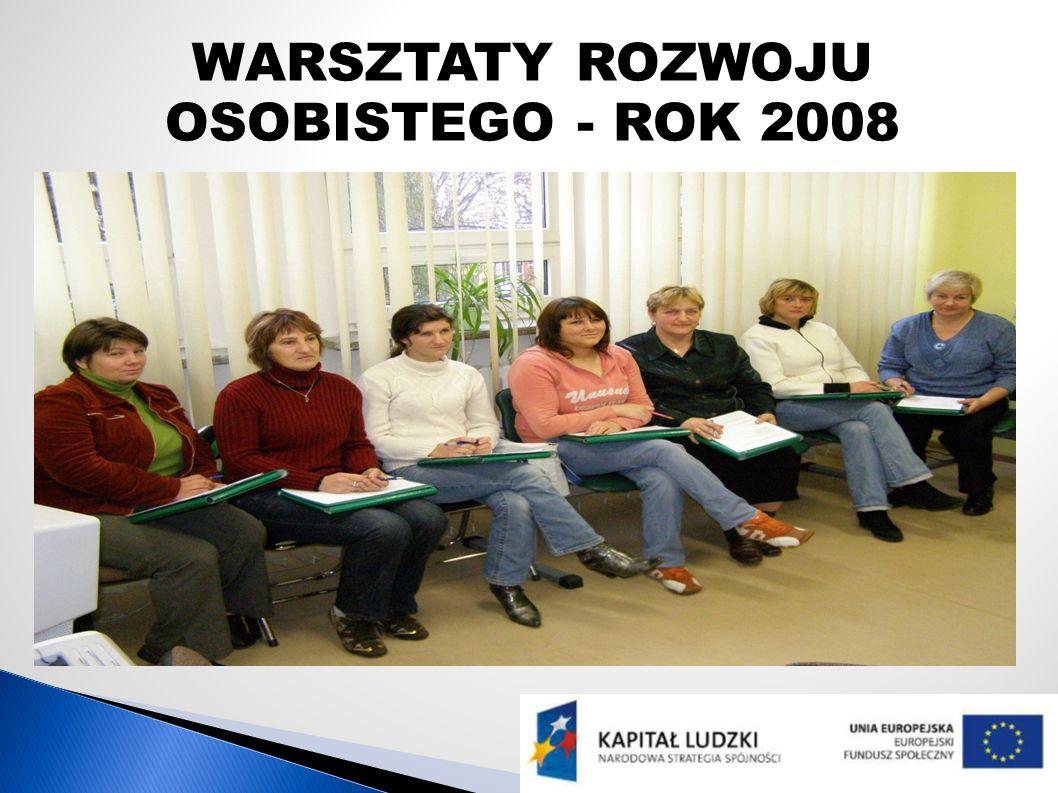 WARSZTATY ROZWOJU OSOBISTEGO - ROK 2008