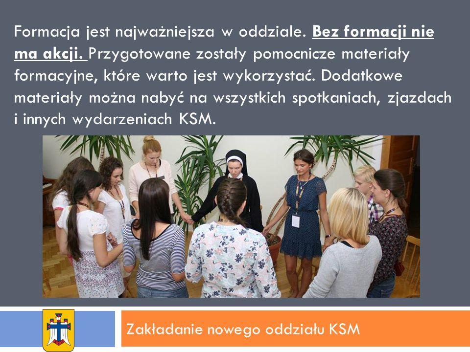 Zakładanie nowego oddziału KSM Formacja jest najważniejsza w oddziale.