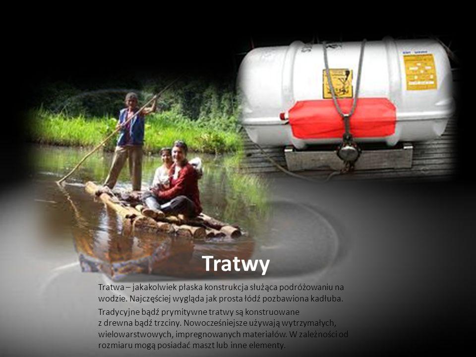 Tratwy Tratwa – jakakolwiek płaska konstrukcja służąca podróżowaniu na wodzie. Najczęściej wygląda jak prosta łódź pozbawiona kadłuba. Tradycyjne bądź