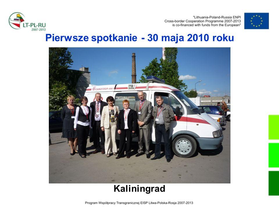 Pierwsze spotkanie - 30 maja 2010 roku Kaliningrad