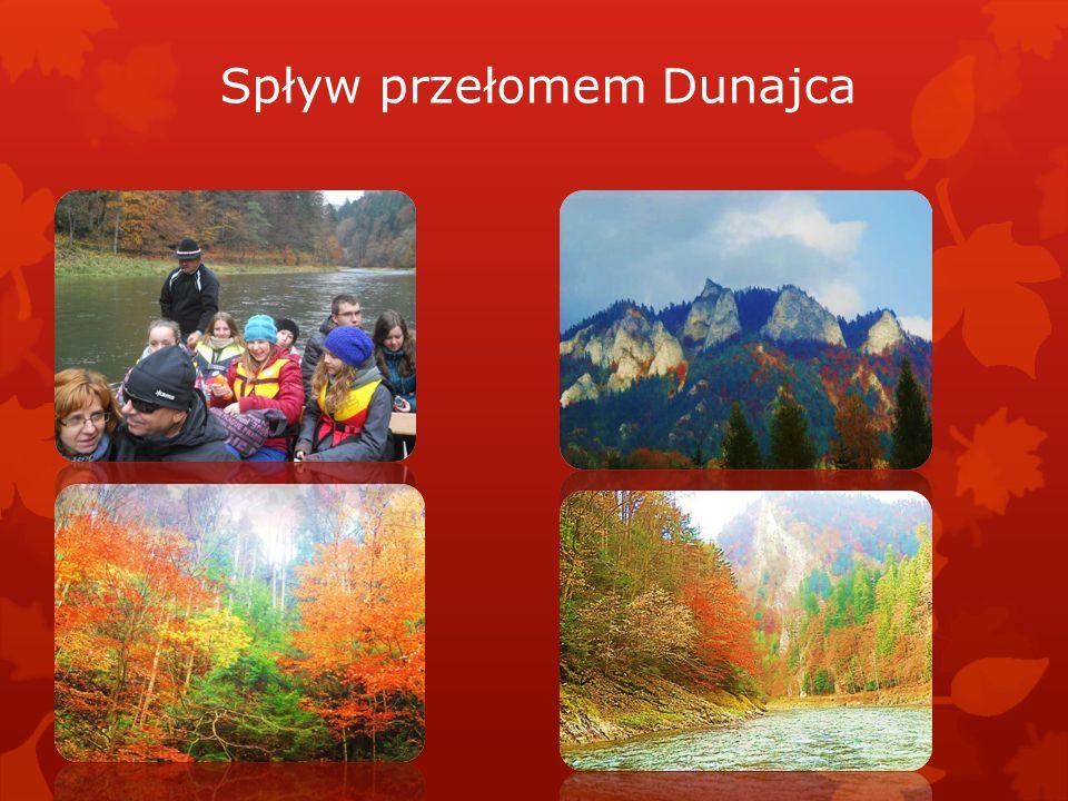 Czwartek 17 października Pieniny Jak piękna jest złota polska jesień najlepiej widać w Pieninach. Malownicze otoczenie zamku w Niedzicy oraz spływ Prz