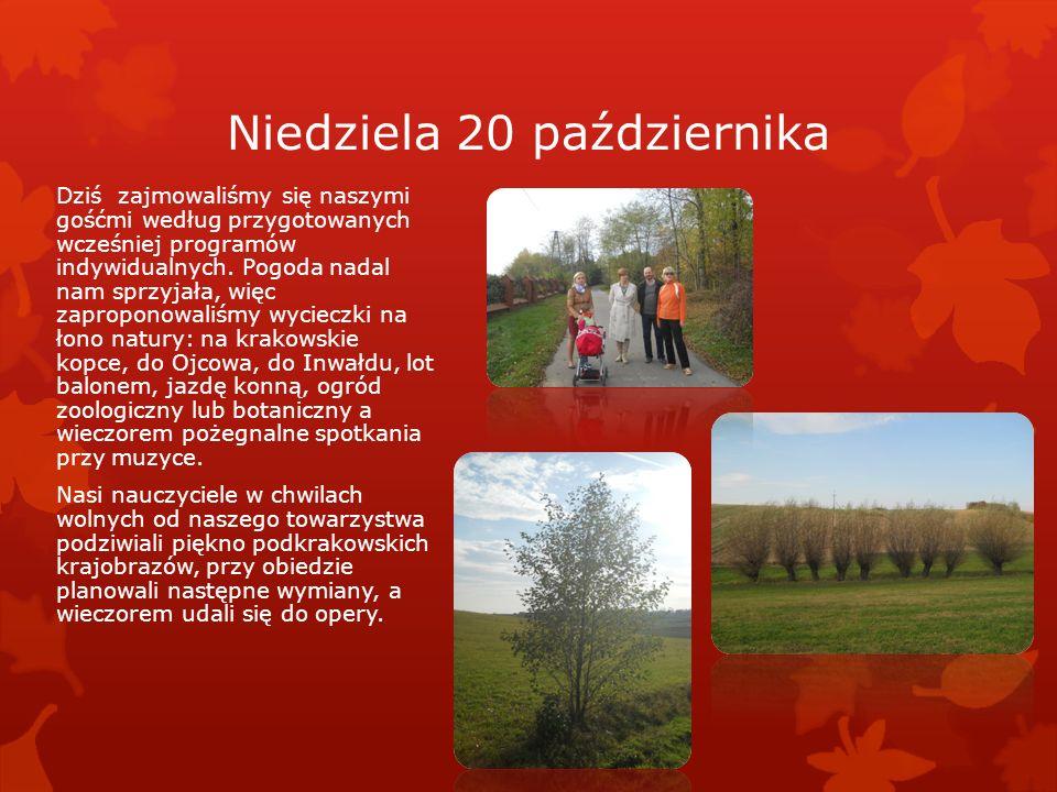 Sobota 19 października Kazimierz Kazimierz – dawniej podkrakowskie miasteczko, a dziś jedna z dzielnic naszego miasta, swoją wyjątkową atmosferą przyc