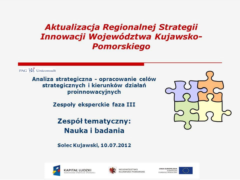 Analiza SWOT – Czynniki zewnętrzne 22 Szanse: Nowa perspektywa finansowania funduszy strukturalnych na rzecz wspierania innowacyjności; Zagrożenie: Niski poziom finansowania działalności B+R z budżetu krajowego; Biurokracja i bariery administracyjne; Zdolność komercjalizacji wyników prac B+R w jednostkach naukowo- badawczych; Światowy kryzys gospodarczy; Sporne Partnerstwo publiczno-prywatne na rzecz wspierania innowacyjności; Finansowanie pozabudżetowe działalności B+R; Zmiany kierunków kształcenia w kraju i na świecie; Zainteresowanie inwestorów zewnętrznych regionem.