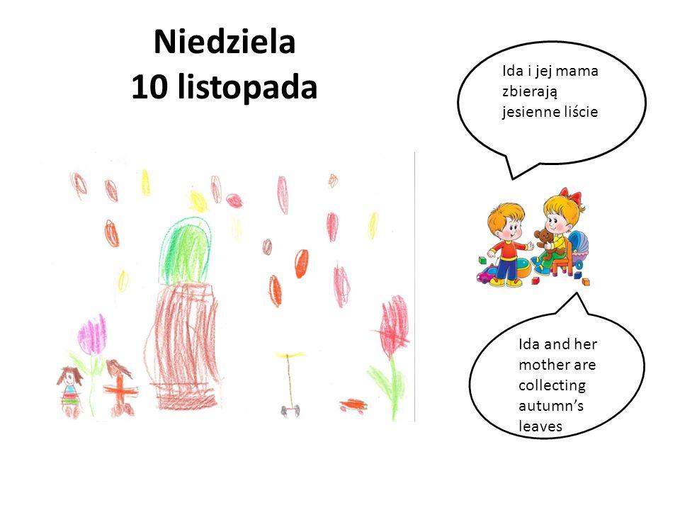 Niedziela 10 listopada Ida i jej mama zbierają jesienne liście Ida and her mother are collecting autumns leaves