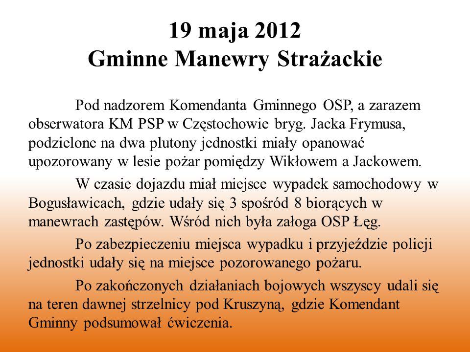 8 lipca 2012 Gminne Zawody Strażackie