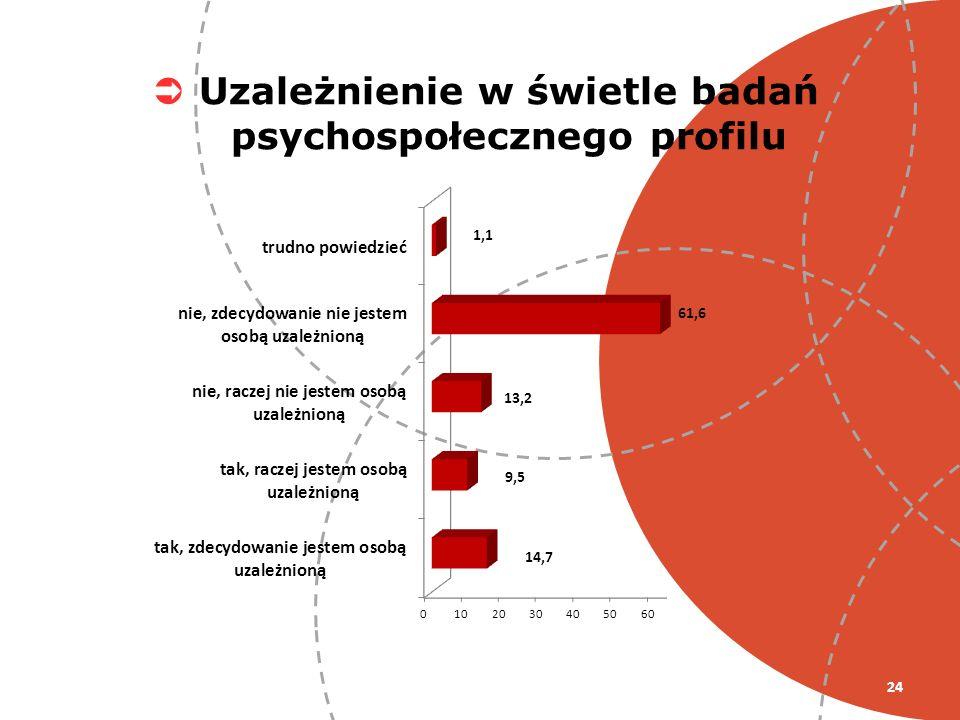 24 Uzależnienie w świetle badań psychospołecznego profilu