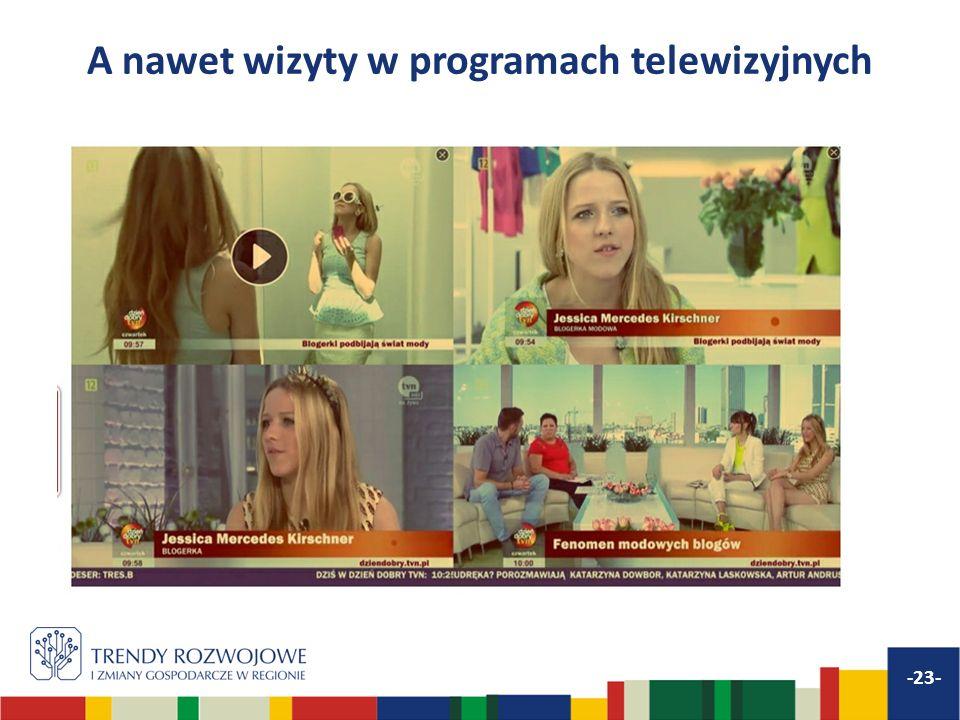 A nawet wizyty w programach telewizyjnych -23-