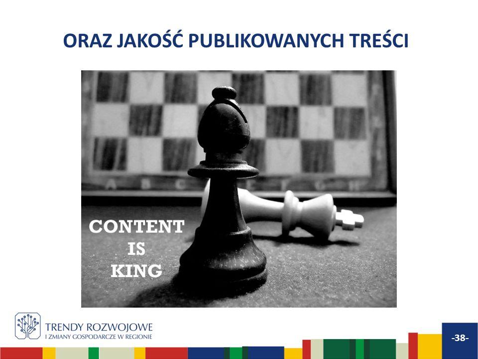 ORAZ JAKOŚĆ PUBLIKOWANYCH TREŚCI -38-