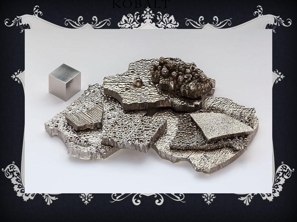 COBALTUM Kobalt Co – pierwiastek chemiczny z grupy metali przejściowych układu okresowego. Posiada 26 izotopów z przedziału mas 50-75. Trwały jest tyl