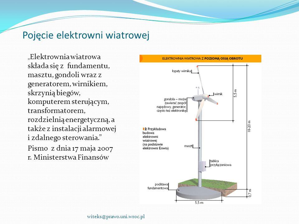 Czy elektrownia wiatrowa jest obiektem budowlanym .