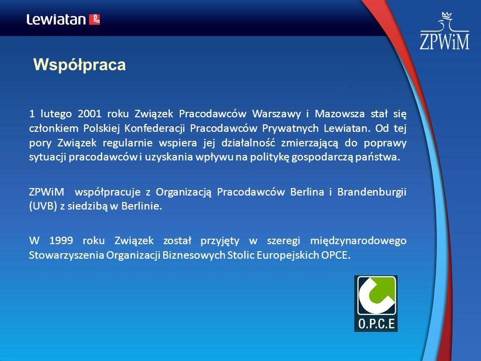 Współpraca 1 lutego 2001 roku Związek Pracodawców Warszawy i Mazowsza stał się członkiem Polskiej Konfederacji Pracodawców Prywatnych Lewiatan. Od tej