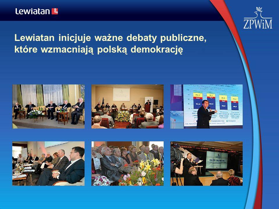 Lewiatan inicjuje ważne debaty publiczne, które wzmacniają polską demokrację
