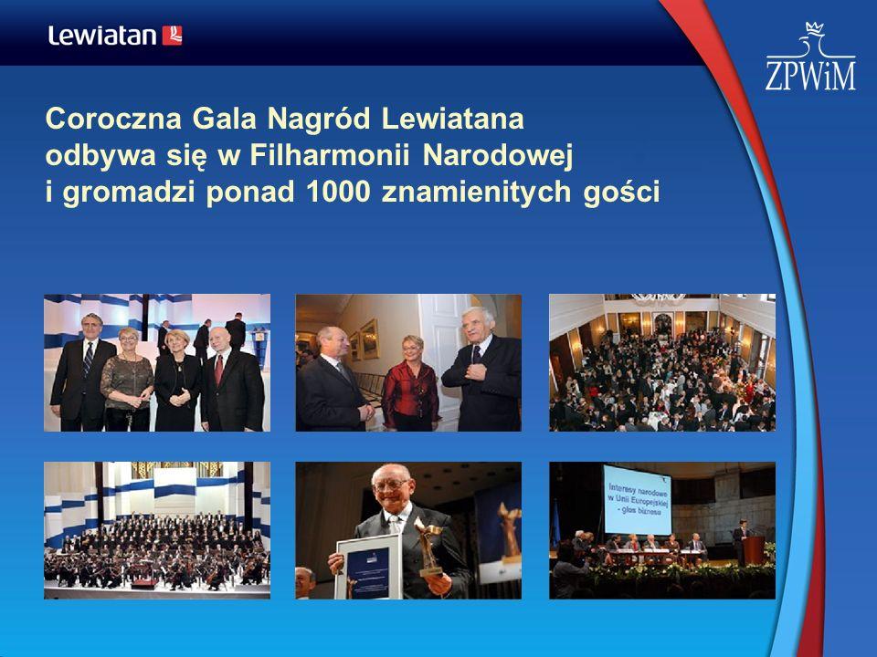 Coroczna Gala Nagród Lewiatana odbywa się w Filharmonii Narodowej i gromadzi ponad 1000 znamienitych gości