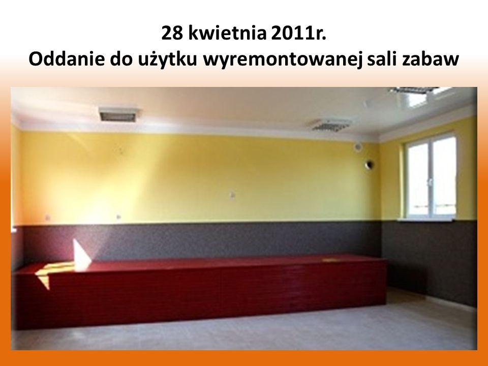 W kwietniu zakończyła się adaptacja na cele kulturalno – społeczne pomieszczeń w remizie strażackiej w Łęgu polegająca na odnowieniu sali zabaw i pomieszczeń sanitarnych oraz magazynku.